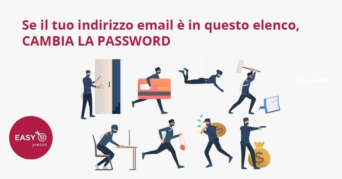 Se il tuo indirizzo email è in questo elenco, cambia la password easyprezzo